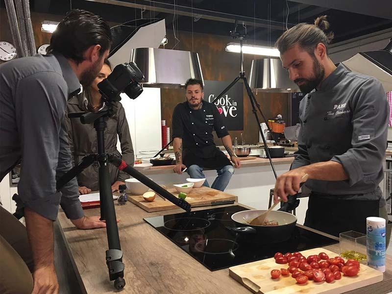 shooting scuola di cucina