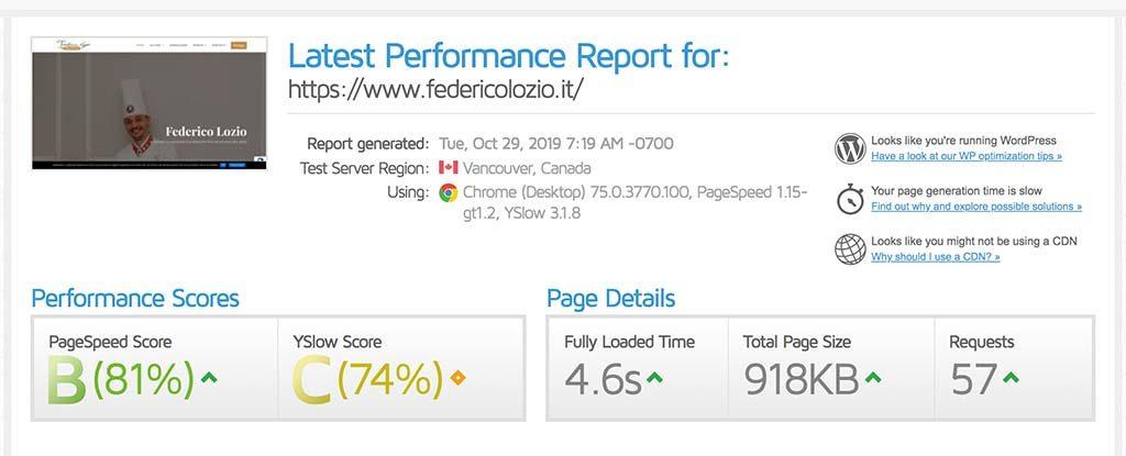 performance sito federicolozio