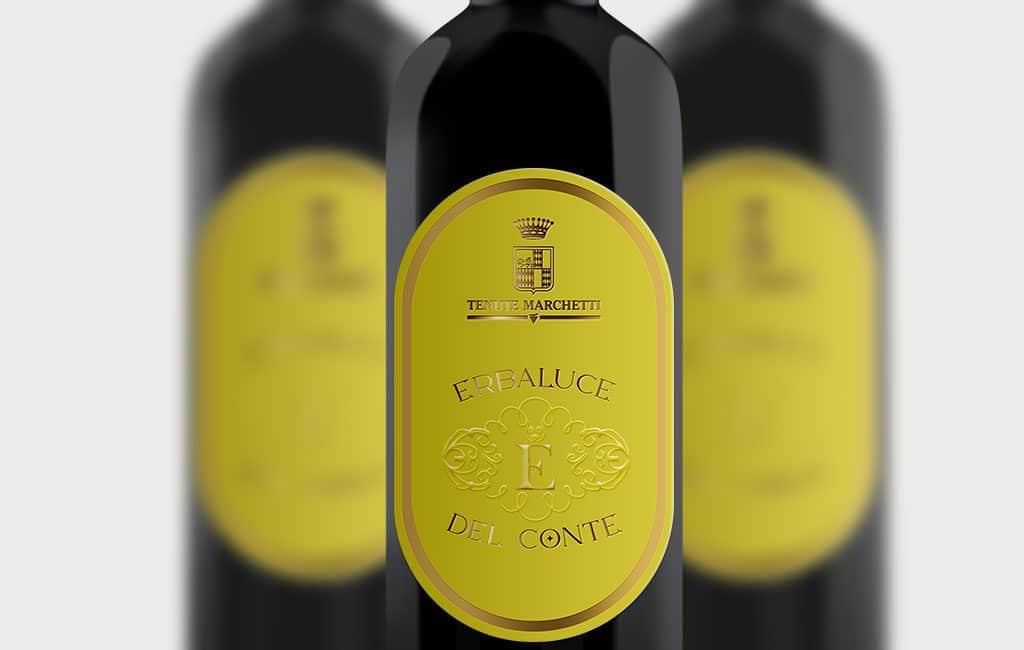 logo bottle vino rosso mockup